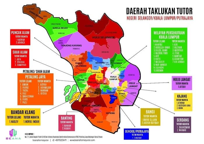 Peta Lokasi Kawasan Kelas Mengaji Beana